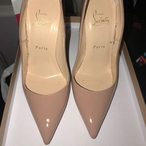 Christian Louboutin So Kate Pumps. Nude